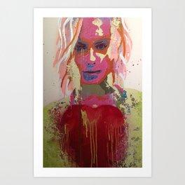 Scarlett Tear Art Print
