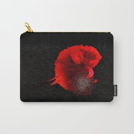 Diving in Red Carry-All Pouch