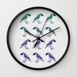 Birds on thin lines Wall Clock