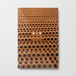 Perforated Waves Metal Print