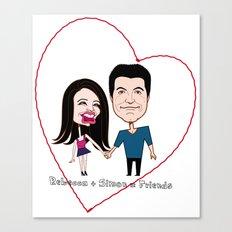 Rebecca Black and Simon Cowell are Friends Canvas Print