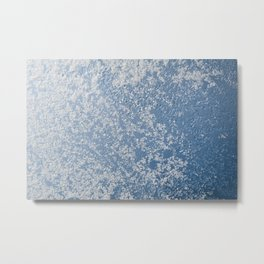 Snow and water condensation texture Metal Print