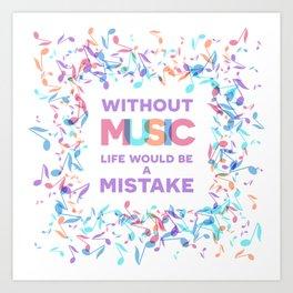 Inspirational MUSIC quotes, 05 Art Print