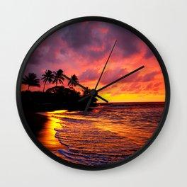 Palmas Silhouette Wall Clock