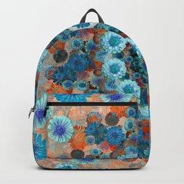 Happy orange background Backpack