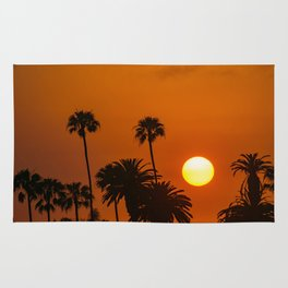 Sunset in the Palms Rug