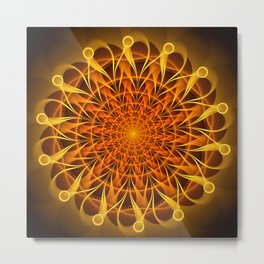 The mandala of energy Metal Print