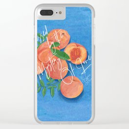 Peach Love Fruit - Call Me By Your Name Clear iPhone Case