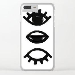 sleepy eye - all-seeing eye Clear iPhone Case