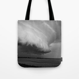 Cape Tryon Vortex Black and White Tote Bag