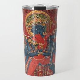 Chakrasamvara and consort Vajravarahi 15th Century Tantric Art Travel Mug