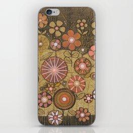 Wild Flower Collagraph iPhone Skin