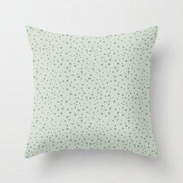 PolkaDots-Juniper on Mint Throw Pillow