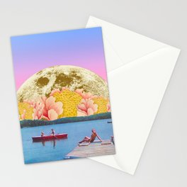 Pink lake Stationery Cards