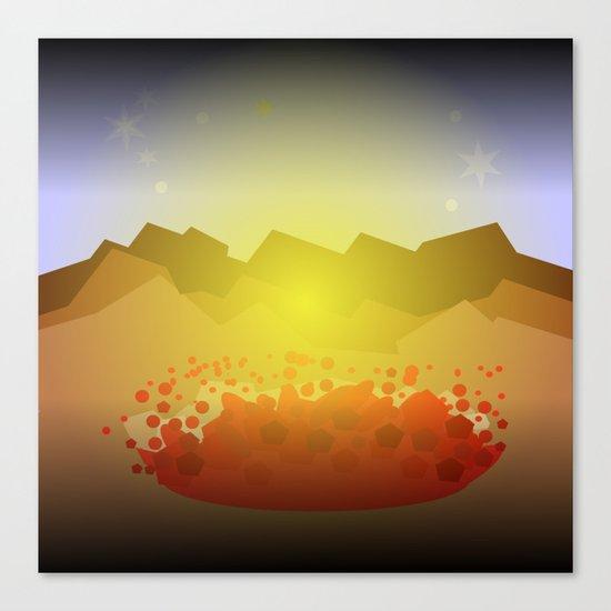 Icelandic volcano Canvas Print