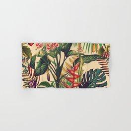 Vintage Tropical Flora (green) Hand & Bath Towel