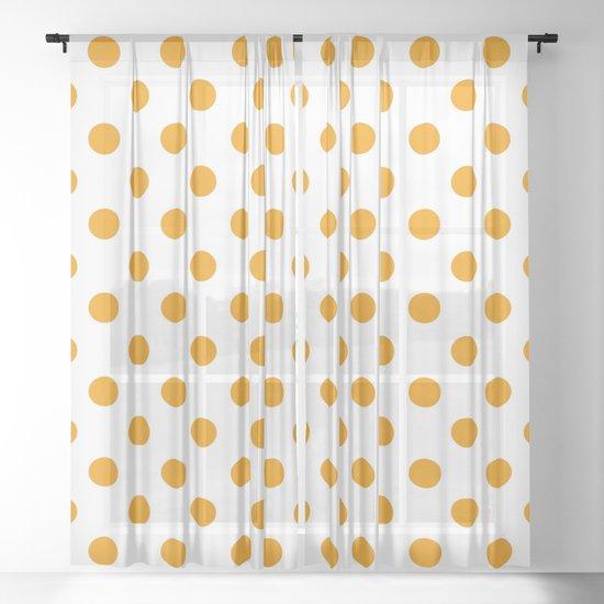 Polka Dots (Classic Orange & White Pattern) by luxelab