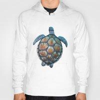 sea turtle Hoodies featuring Turtle by Elise Cayouette