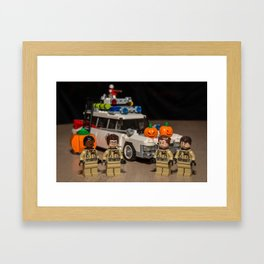 Halloween Busters Framed Art Print
