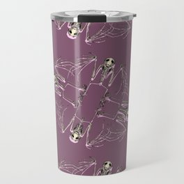 Bat Skeleton Mandala Travel Mug