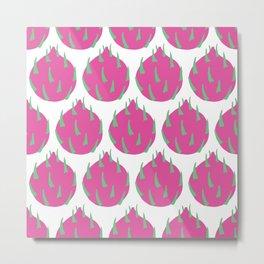 Dragon fruit pattern 05 Metal Print