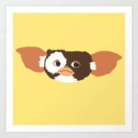 gizmo Art Prints featuring gizmo by elvia montemayor