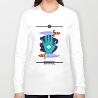 justice league Long Sleeve T-shirts featuring JUSTICE by badOdds
