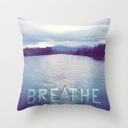 Breathe in the Beauty of Nature Throw Pillow