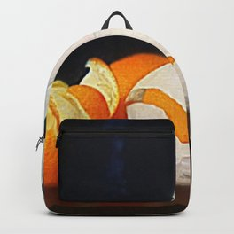 Harvest Oranges in Tissue Paper Still Life by William McCloskey Backpack