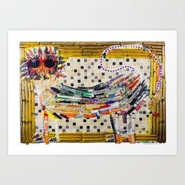 Marker Lion Art Print