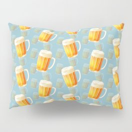 Ice Cold Beer Pattern Pillow Sham