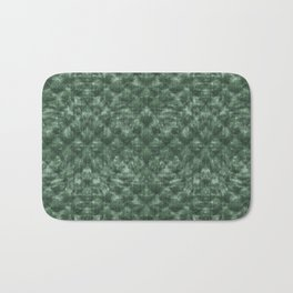 Quilted Forest Green Velvety Pattern Bath Mat