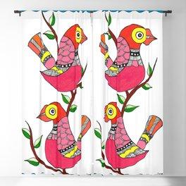 Madhubani Birds and Tree Blackout Curtain
