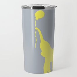 Elephant with Balloon - Lemon Travel Mug