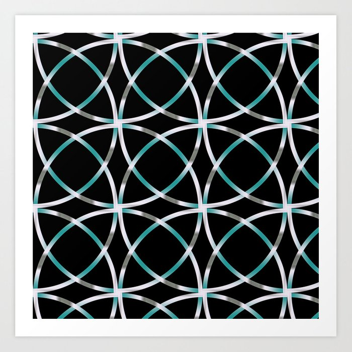 Intersecting Rings Fractal in TPGY Art Print