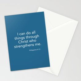 I can do all things Stationery Cards