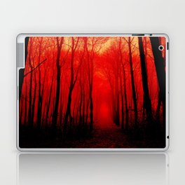 Misty Red Forest Laptop & iPad Skin