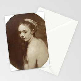 Rembrandt - Study of Susannah Bathing Stationery Cards