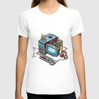 computer T-shirts featuring 8bit computer by Sergey Kostik