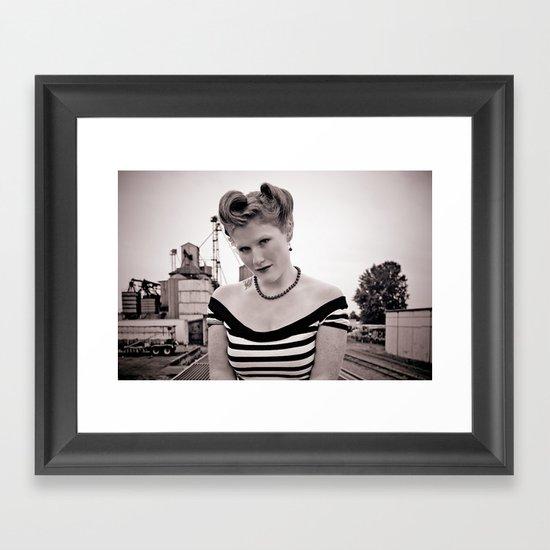 Railway pinup Framed Art Print