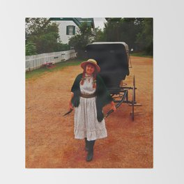 Anne of Green Gables Pulls the Carriage Throw Blanket