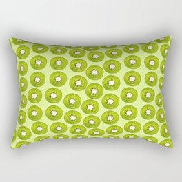 Kiwi Print - Green BG Rectangular Pillow
