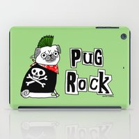 hiphop iPad Cases featuring Pug Rock by gemma correll