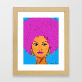 Pam Grier aka Jackie Brown c 1970's Diva Framed Art Print