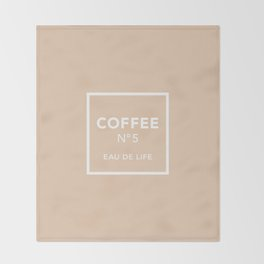 Iced Coffee No5 Throw Blanket