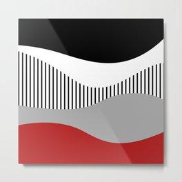 Colorful waves design 2 Metal Print