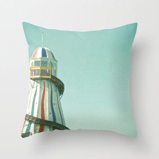 Summer Slide Throw Pillow