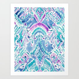 UNICORN DAYDREAMS Mythical Watercolor Tapestry Art Print