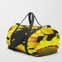 Large Sunflowers on a black background #decor #society6 #buyart Duffle Bag