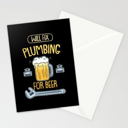 Will Fix Plumbing For Beer For Plumbers Stationery Cards